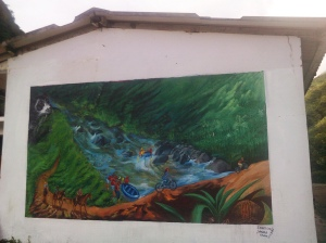 A mural at the ecotourism and conservation center in Nangulvi, the Intag Valley