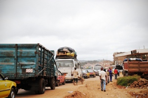 roadside, Yaounde, Cameroon