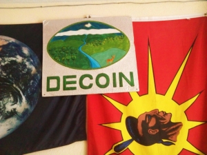 Apuela.  Office of DECOIN (Defensa y conservación ecológica de Intag)